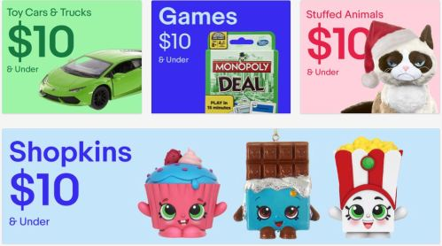 ebay $10 and under holiday gifts
