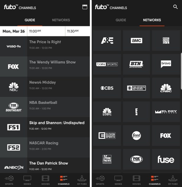 Easy navigation with fuboTV