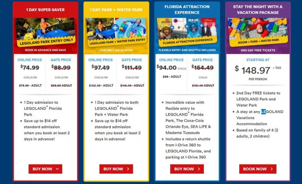 lego resort tickets