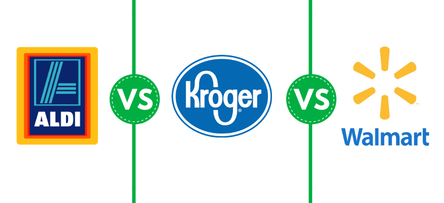 Aldi vs Kroger vs Walmart  Which grocery store has the
