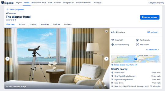 Expedia Hotel Screensot