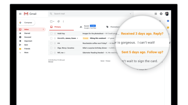 "Gmail's ""nudge"" feature"
