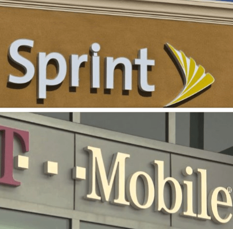 Sprint and T-Mobile logos