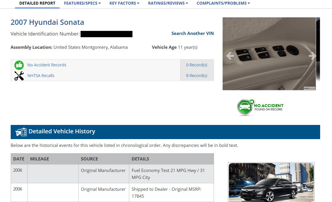 free history search title vehicle