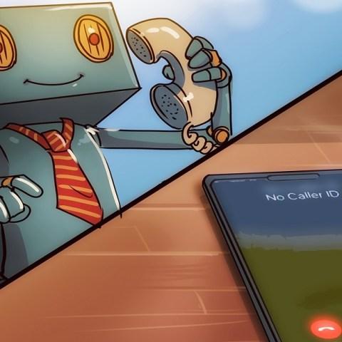 Robot calling cell phone as a robocall