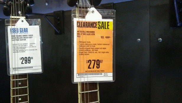 clearance sale at guitar center