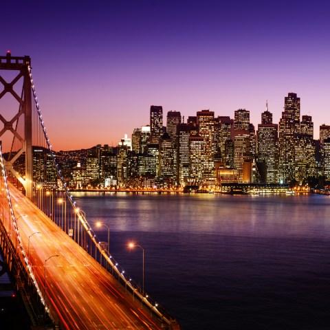 San Francisco bridge & skyline