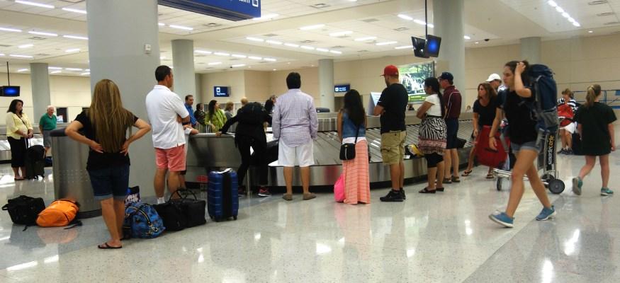 baggage carousel at airport