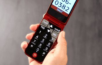 jitterbug phone in man's hand