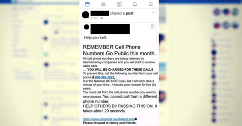 scam call fake post