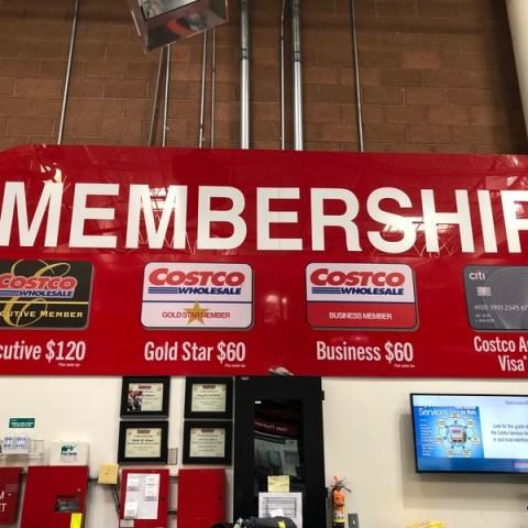 Costco membership prices