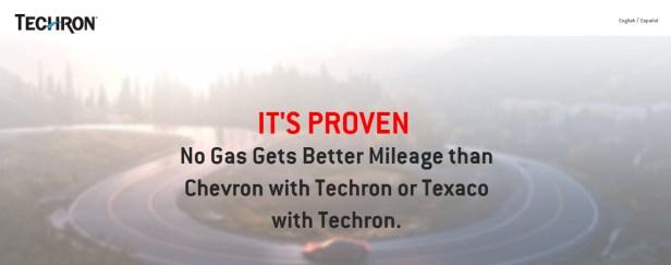 Chevron with Techron mileage claim