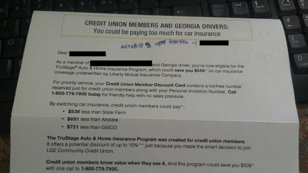 Should you get car insurance through your credit union