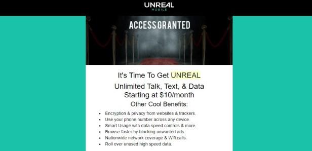 Unreal Mobile beta invitation