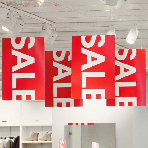 sale signs in store