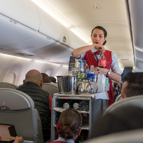 How's the food up there? What you get in coach class from all the major airlines