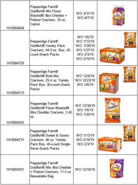 Goldfish Crackers recall 3