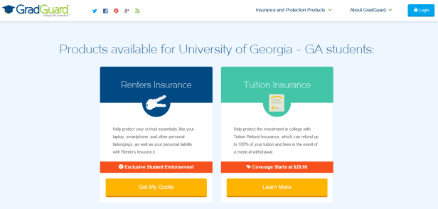 GradGuard tuition insurance plan
