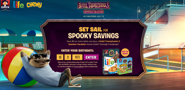 hotel transylvania 3 summer vacation life cereal $5 off movie ticket offer