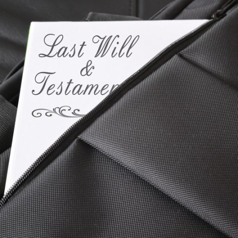last will and testament in a briefcase
