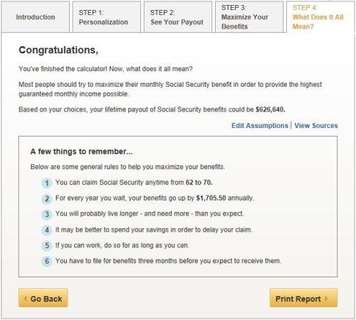 AARP Social Security calculator 5