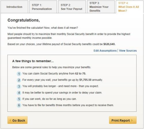 AARP's free Social Security calculator helps you maximize