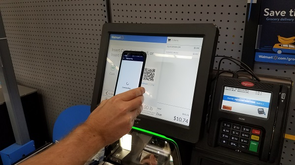 Step two: Use Walmart Pay to scan the QR code at the register to generate an eReceipt