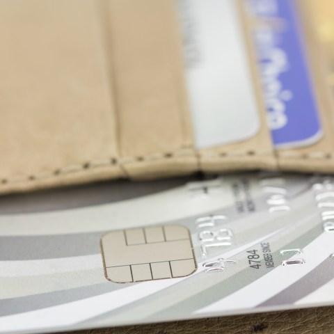 Credit cards in wallet