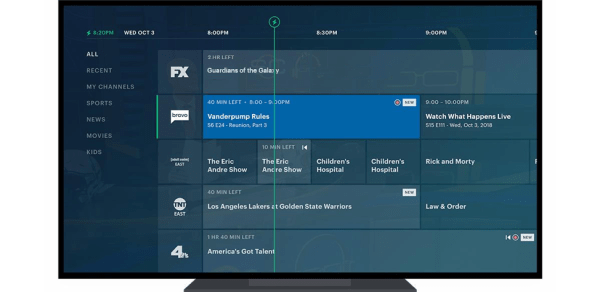 Hulu's new live TV guide (Image credit: Hulu)