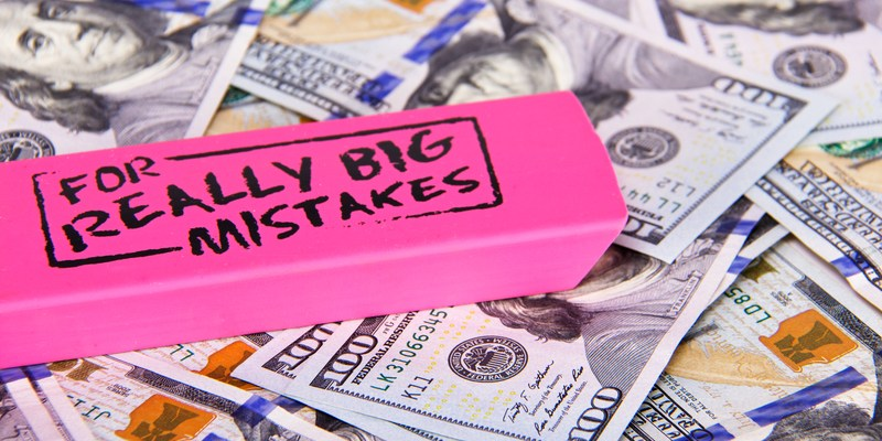 bank mistakes with eraser