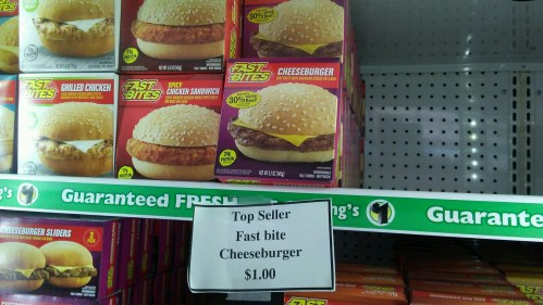 dollar tree $1 cheeseburger