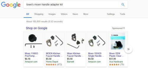 google moen search