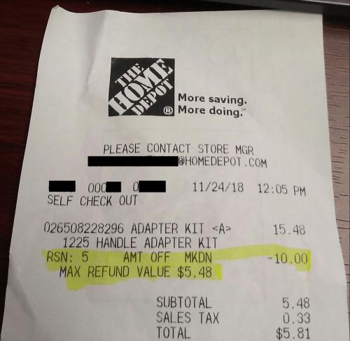 receipt redacted