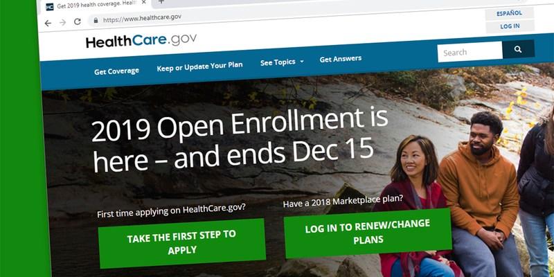 2019 health care open enrollment deadline