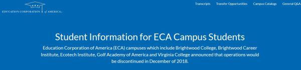 ECA campus announcement