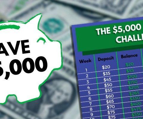 $5,000 52-week money challenge