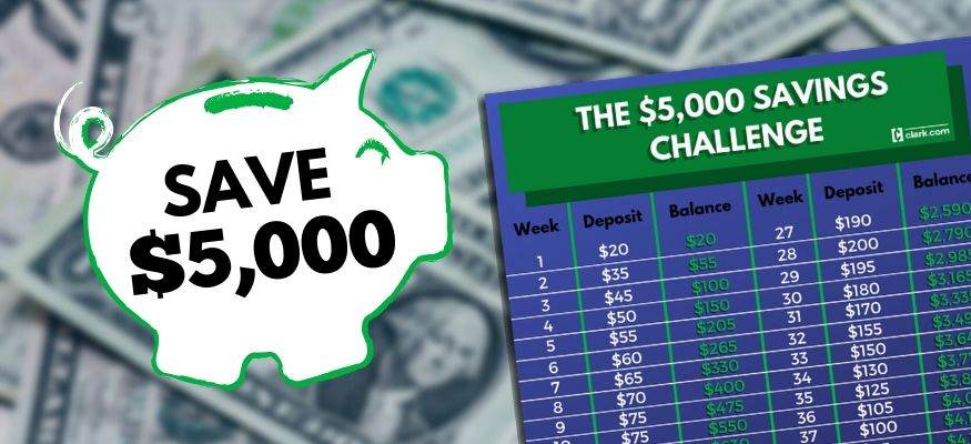 $5,000 52-week money challenge