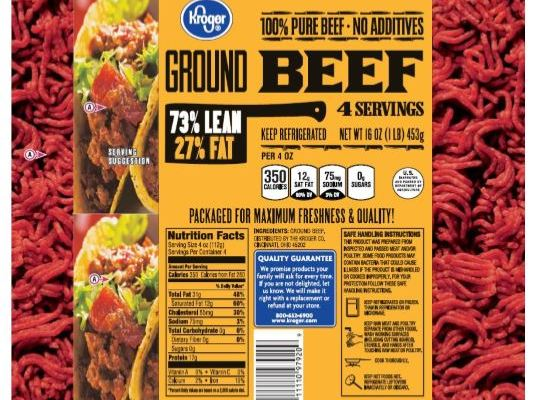 kroger ground beef recall