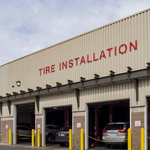 costco tire installation storefront