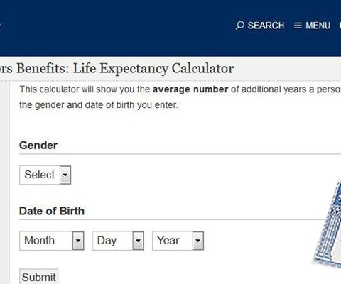 This SSA life expectancy calculator shows how long you'll receive benefits
