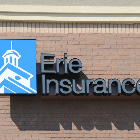 erie insurance sign on office