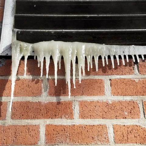 freezing ice on vent via dreamstime