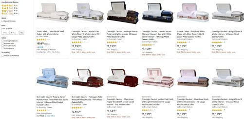 You can save big money on caskets at Costco, Walmart and