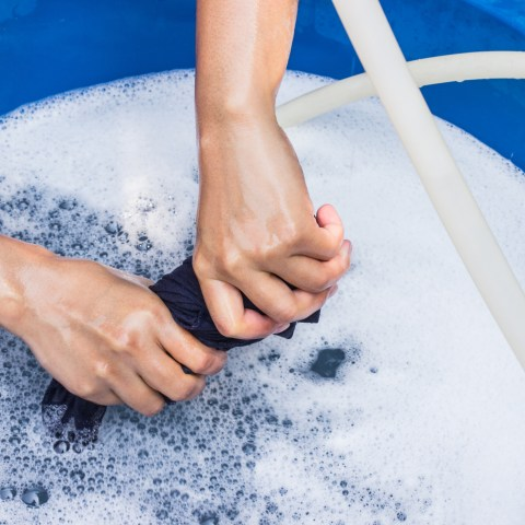 hand washing dry clean only clothing at home