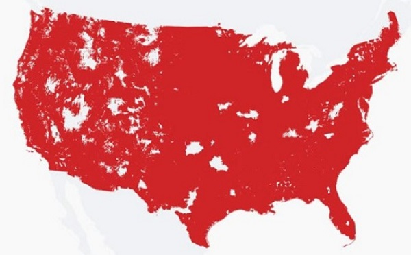 Spectrum Mobile coverage map