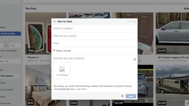 facebook marketplace create listing