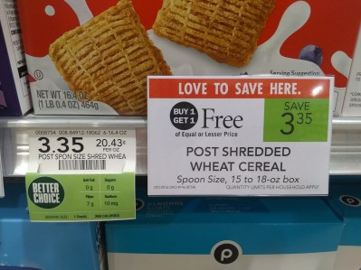 Publix buy one get one free cereal