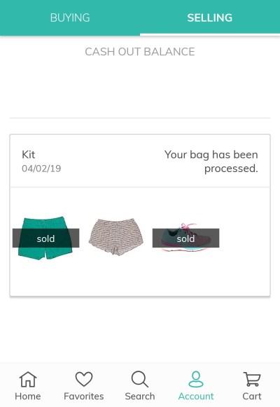 thredUP kit sold items