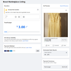 How to boost a post on Facebook Marketplace.