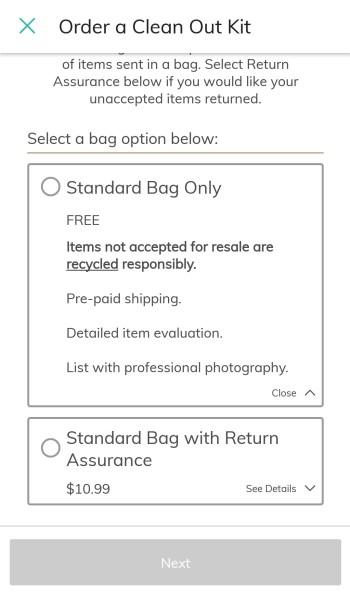 ThredUP Clean Out Kit standard bag